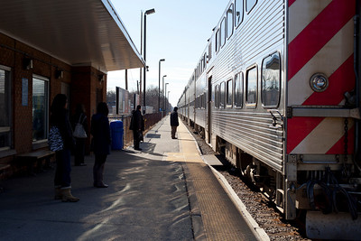 The train ride up to Chicago, Illinois on the Rock Island Amtrak Line on February 19, 2011.  (Jay Grabiec)