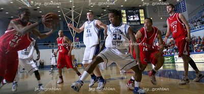 EIU men's basketball team during a game against Austin Peay at Eastern Illinois' Lantz arena in Charleston, Illinois on January 6, 2007.  (Jay Grabiec)