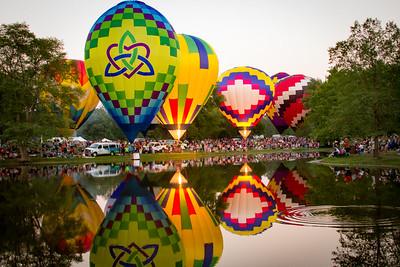 Reflections and Hot Air Balloons