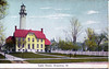 Old postcard view of the Grosse Point Light Staton in Evanston, Illinois