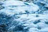 is med et tynt snødekke og med is-krystaller