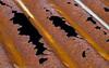 Rustne takplater på naust på Øyjord.