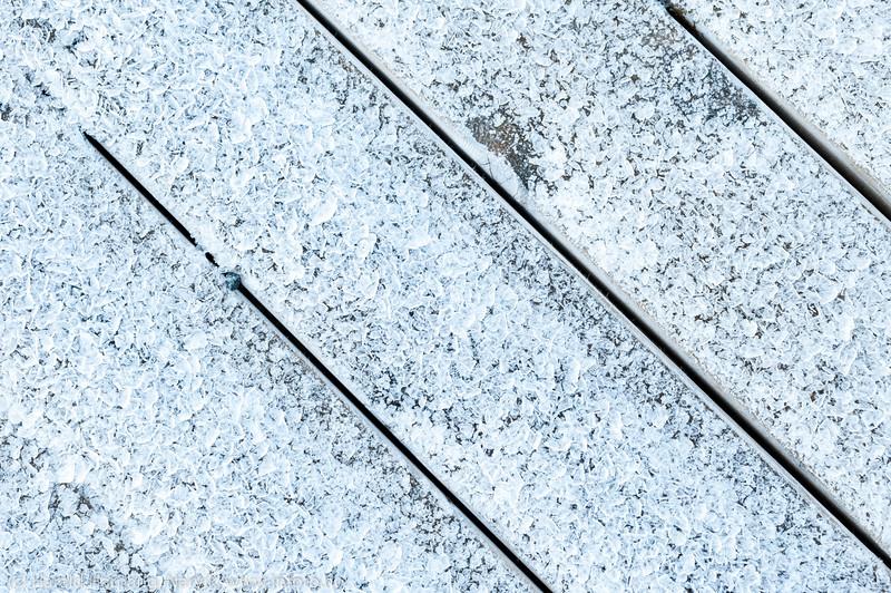 Iskrystaller på kai