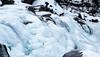 Islagt foss i Skjomdalen