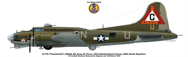 "B-17G ""Thunderbird""<br /> USAAF 8th Army Air Force, 303rd BG, 359th Bomb Squadron"