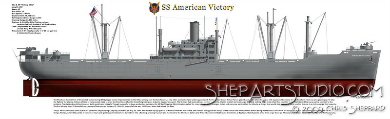 SS American Victory with description