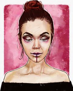 435 makeup_lady