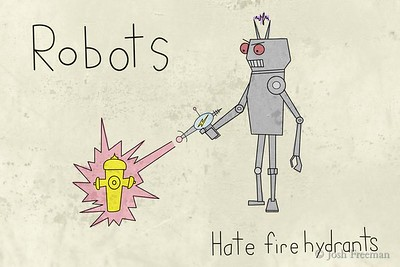 Robots hate fire hydrants