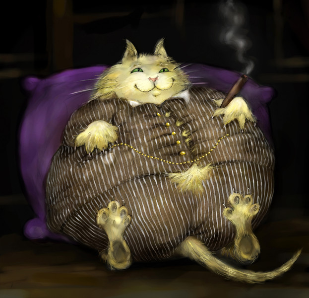 Fat Cat, by Laura Hoffman