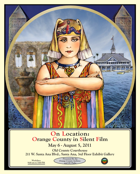 Cleopatra Poster<br /> Created for the OC Archives and the OC Parks<br /> April, 2011