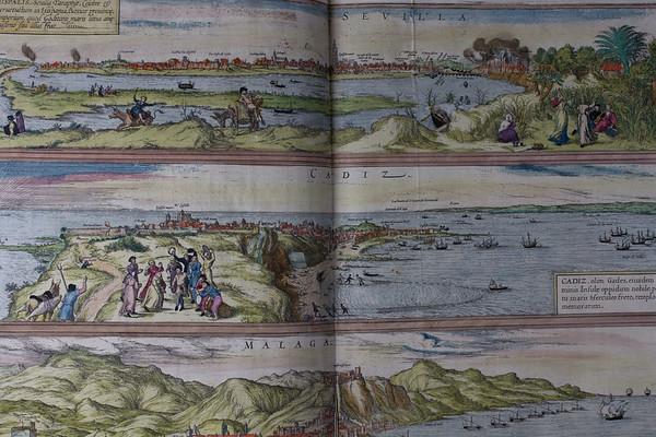 Maps of Sevilla, Cadiz and Malaga, 16th century
