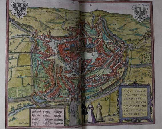 Map of Aquisgranum (Aachen), 16th century