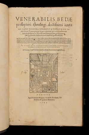 Title page of Commentationum in Sacra Literas tomus primus