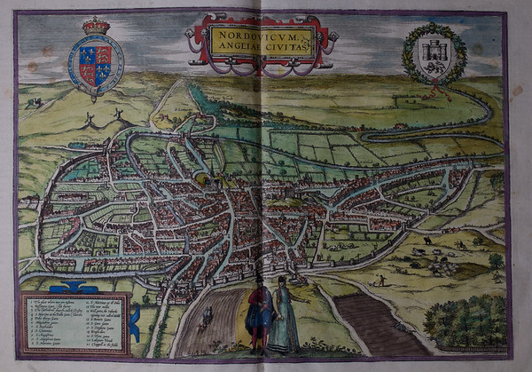 Map of Nordovicum [Norwich], 16th century