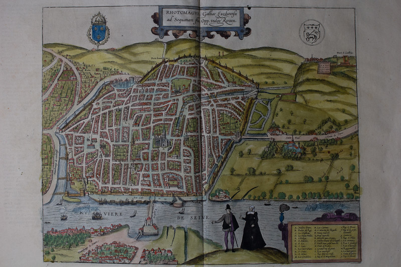 Map of Rhotomagus [Rouen], 16th century