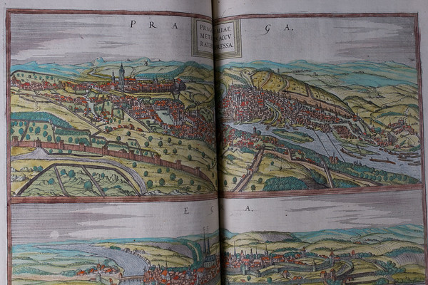 Map of Praga, 16th century