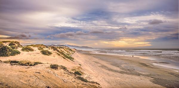 Ocean Beach Sunset Pano #4