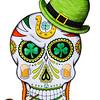 St. Patrick's Sugar Skull