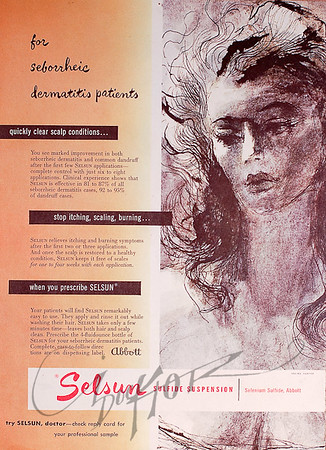 ad for Selsun,  illustration by Irv Docktor