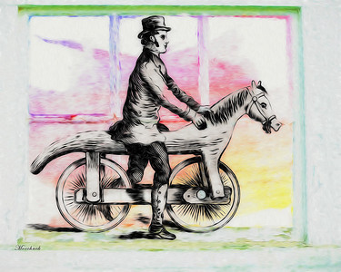 A Man and his Horse and his Bike,, What a life...