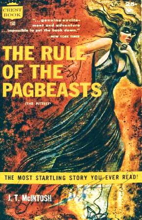 The Rule of the Pagbeasts by J.T. McIntosh,  Illustration by Irv Docktor