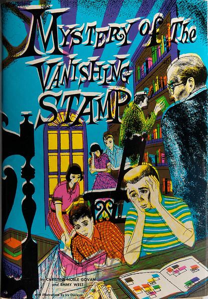 Mystery of the Vanishing Stamp, Illustration by Irv Docktor