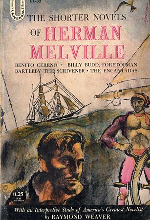 The Shorter Novels of Herman Melville book cover illustration by Irv Docktor