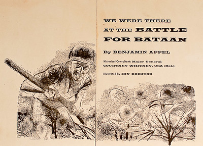 We Were There at the Battle for Bataan, illustrated by Irv Docktor