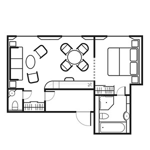 Admiral Suite Floorplan