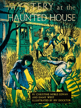 Mystery at the Haunted House, Illustration by Irv Docktor