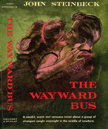 John Steinbeck, The Wayward Bus (Grosset & Dunlap, 1956). Illustration by Irv Docktor