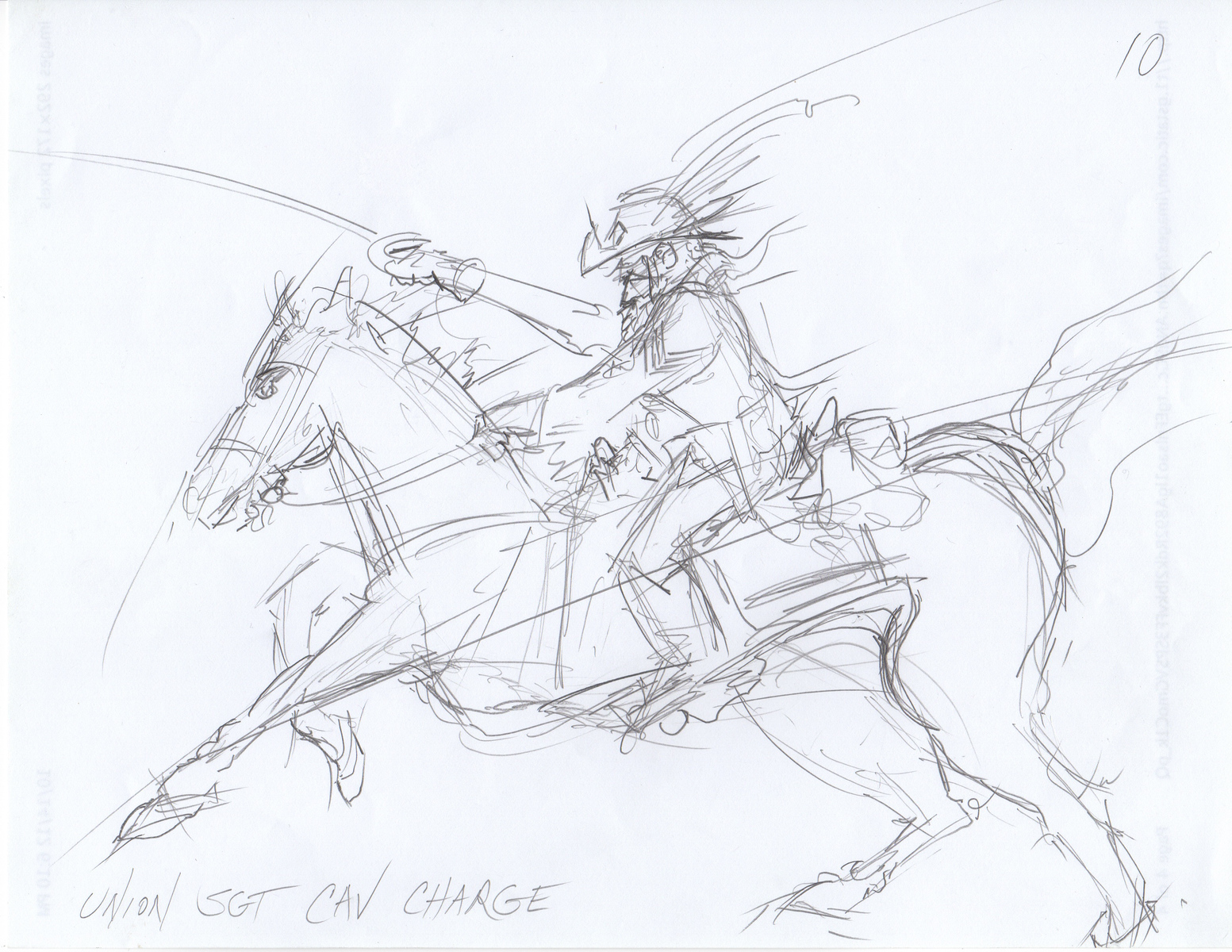 Union Sergeant Cavalry Charge