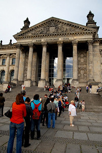 Line for the Reichstag.  I'm impatient and didn't go in.