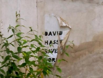 """David Hasselhoff saved the world"" poster"