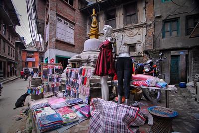 Street vendors w/ mannequins