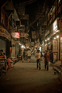 Thamel at night; very uncharacteristically empty