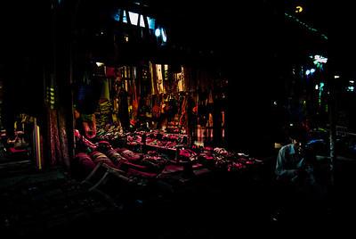 Selling Shnyaga at night