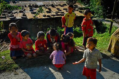 Roadside child singers/beggars