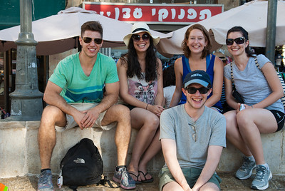 Strolling through Jerusalem with Rosa, Molly, Anna, and Peter