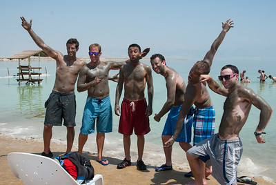 Eric, Steve, Andrew (priceless look), David, Danny, and Greg