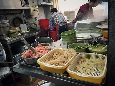 Dumpling solution being prepared