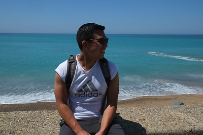 Beginning of the coastline hike from Biarritz to Saint Jean De Luc
