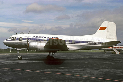 Aeroflot Russian International Airlines Ilyushin Il-14 CCCP-91483 (msn 147001232) PRG (Christian Volpati Collection). Image: 910340.