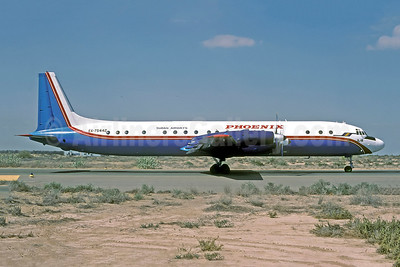 Phoenix Aviation - Sudan Airways Ilyushin Il-18D EX-75442 (msn 187009702) SHJ (Rolf Wallner). Image: 951020.