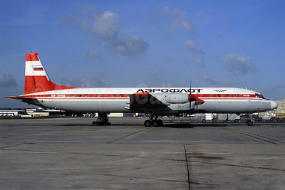 Aeroflot Russian Airlines Ilyushin Il-18D RA-75466 (msn 187010403) (Polar red) CDG (Christian Volpati). Image: 910803.