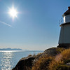 Lighthouse in northern Norway on a sunny day