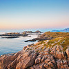 Rocky coast at sunet
