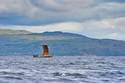 Nordland boat sailing on a windy day