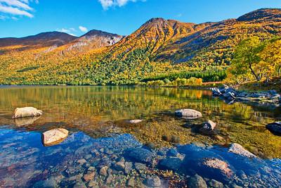 Austerfjorden near Revsves on a fine autumn day