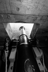 Canon on a tall ship